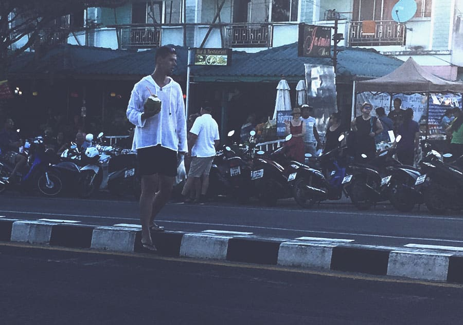 How to cross the street in Phuket