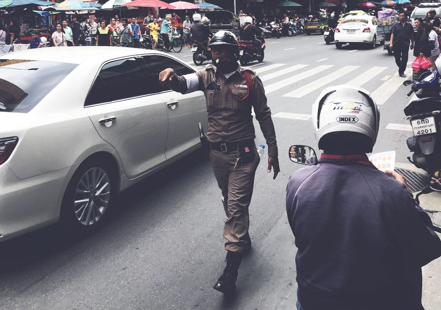 Traffic police officer in Thailand